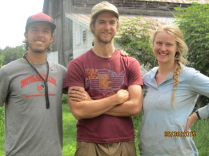 Taylor, Dane, and Rosie, students at Northland College, were our first summer interns.